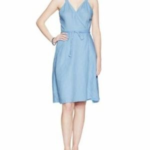 Calypso St. Barth Linen Wrap Dress Blue S